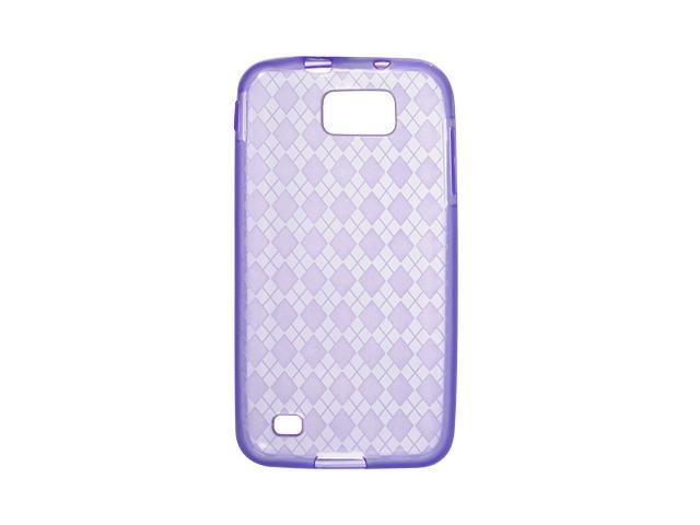 Samsung Galaxy S II Skyrocket HD I757 Purple Checker Design Crystal Skin