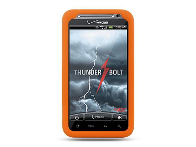 HTC Thunderbolt/HTC Incredible HD/HTC 6400 Orange Silicone Skin
