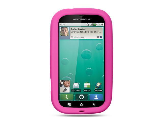 Motorola Bravo/Motorola MB520 Hot Pink Silicone Skin