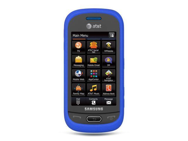 Samsung Eternity II/Samsung A597 Blue Silicone Skin