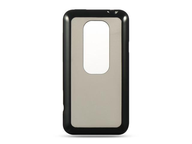 Luxmo Black Black Trim with Smoke Hard Back Case & Covers HTC EVO 3D
