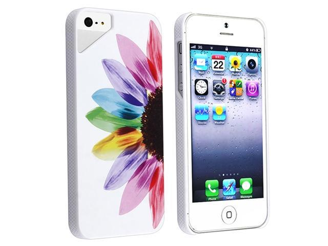 Insten Sunrise Rear Clip-on UV Case Cover + Clear Screen Protector Compatible With Apple iPhone 5 / 5s 929466