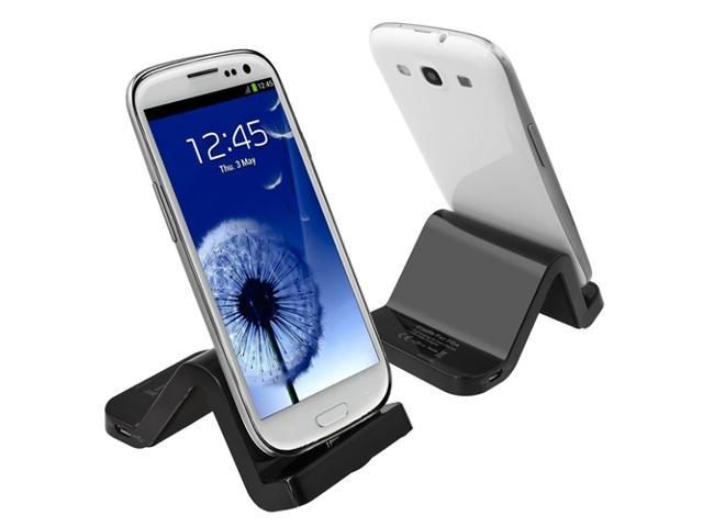 Insten S-Shape Cradle Compatible With Samsung Galaxy S III i9300, Black