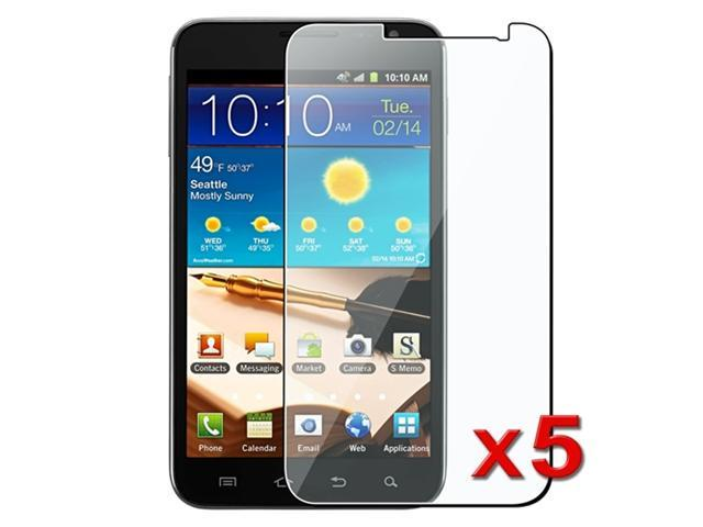Insten Clear Reusable Screen Protector Compatible With Samsung Galaxy Note LTE i717, 5-Pack
