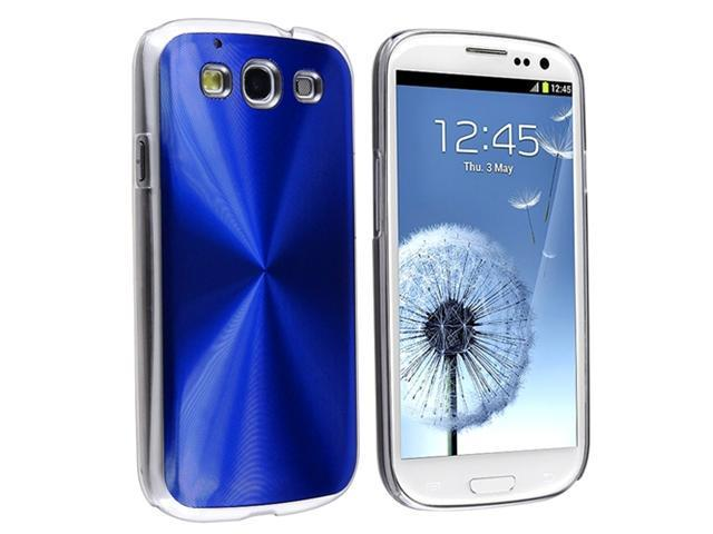 Insten Blue Cosmo Rear Hard plastic Case + Anti-Glare LCD Cover compatible with Samsung Galaxy SIII / S3