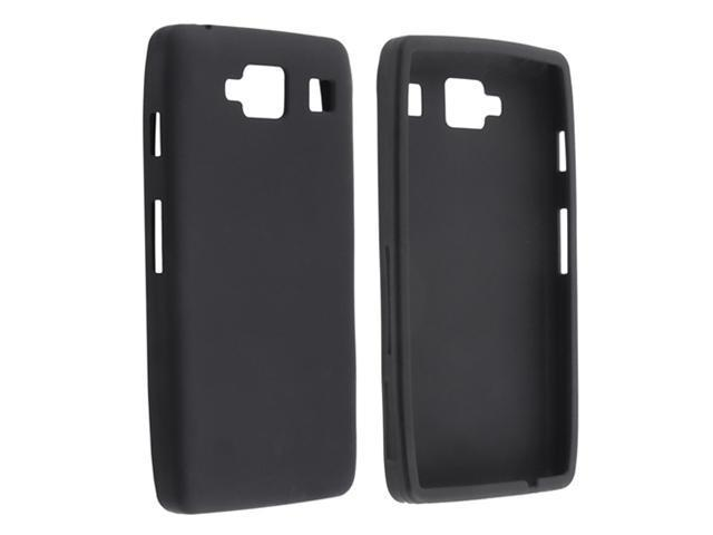 Insten Black Holster Stand Silicone Case Cover + Black Stylus Pen compatible with Motorola Droid Razr Maxx HD XT926M