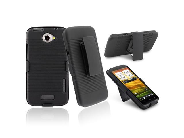 Insten Holster with Stand Compatible With HTC One X, Black
