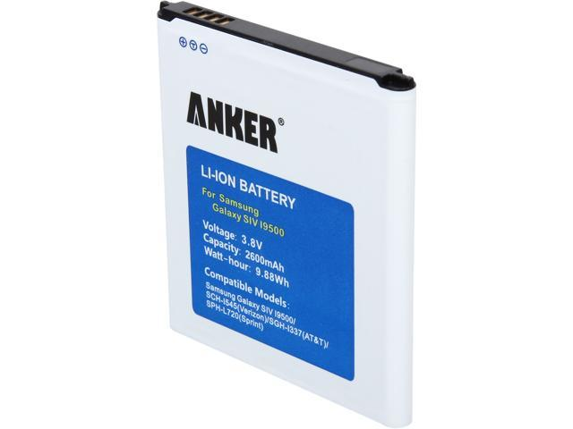Anker 2600mAh Li-ion Battery for Samsung Galaxy S4, I9500, I9505, M919 (T-Mobile), I545 (Verizon), I337 (AT&T), L720 (Sprint), R970 (U.S. Cellular/MetroPCS), Not for Galaxy S4 Active