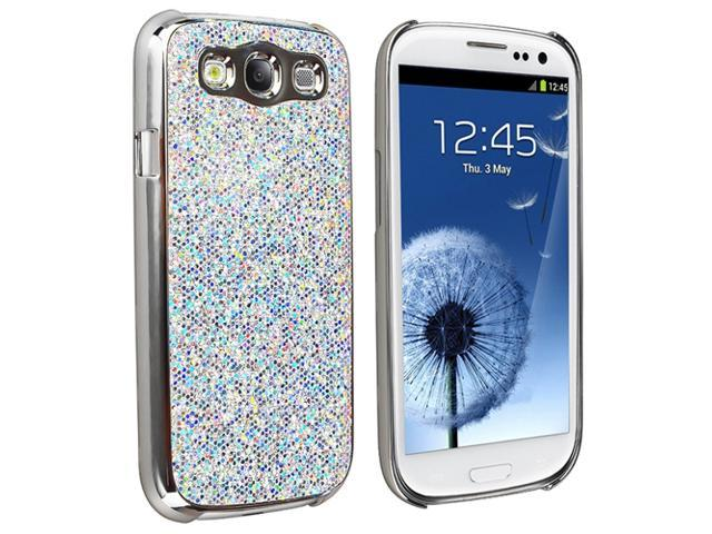 Insten Glitter Hard Skin Phone Case+3pcs Clear SP For Samsung Galaxy SIII S3 i9300