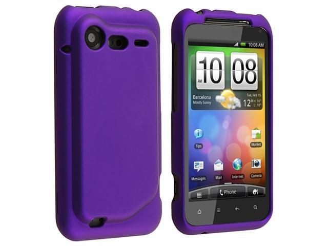 Insten 5pcs Rubber Hard Cover Case+2x Protector Guard For HTC Droid Incredible 2 S