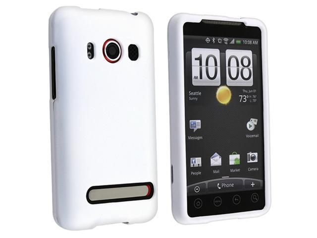 Insten 5X Hard Rubber Case Cover+Guard LCD Protector For Sprint HTC EVO 4G