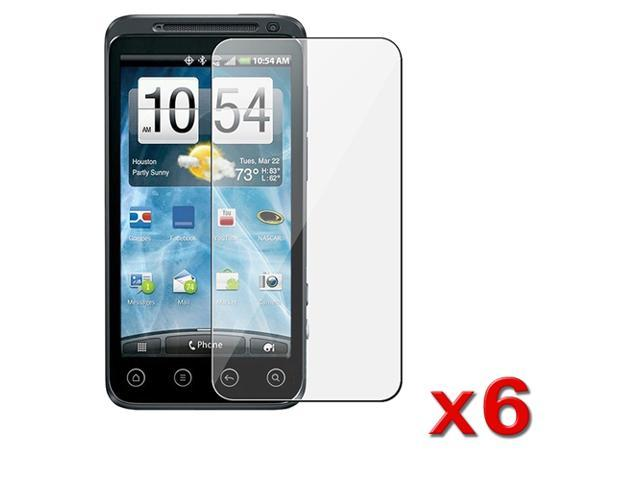 Insten 6 Premium Hi-Q Clear LCD Screen Protector Guard Film Cover For Sprint HTC EVO 3D