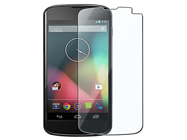 Insten Clear Reusable Screen Protector Compatible with LG Nexus 4 E960, 3-Pack