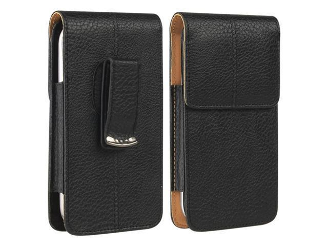 Insten Universal Vertical Leather Case, Black/ Brown 944438