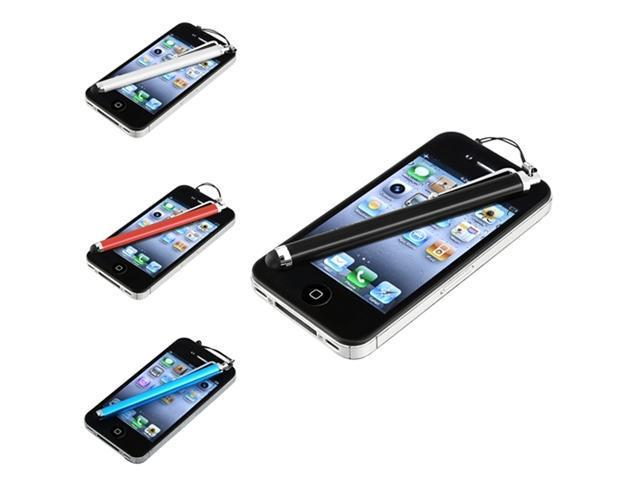 Insten 4x Stylus Pen (Blue, White, Blue & Red) for Samsung Galaxy S III S3 S2 i9100 i9000