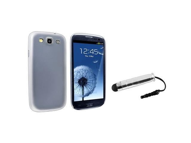 Insten Clear White Slim Snap-on Case + Stylus Compatible With Samsung Galaxy S III/ S3