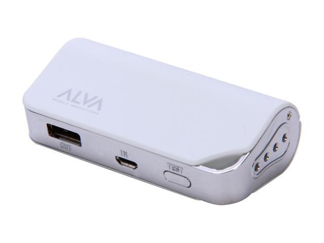 Alva Multi Juice Pack White 2200 mAh Portable Battery Pack MJ-2200
