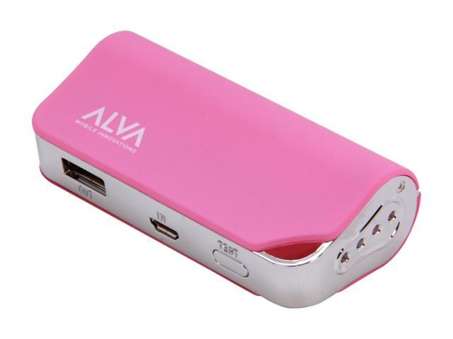 Alva Multi Juice Pack Pink 2200 mAh Portable Battery Pack MJ-2200