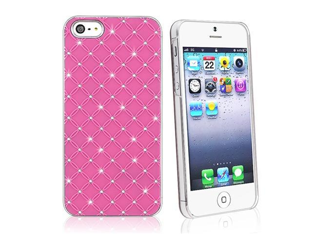 Insten 3-Pack Lattice Diamonds Hard plastic Cases : Hot Pink / Red / Blue Compatible With Apple iPhone 5 / 5s 901494