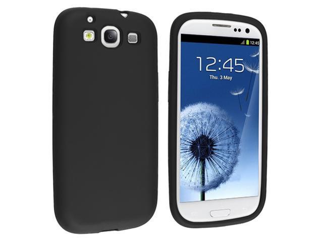 Insten Silicone Skin Case Cover for Samsung Galaxy S3  S III, Black