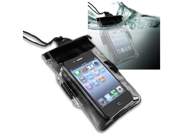 Insten 2-in-1 Black + Blue Waterproof Bag Case For iPhone 5 / 5s / 5c / 4 / 4s 906719