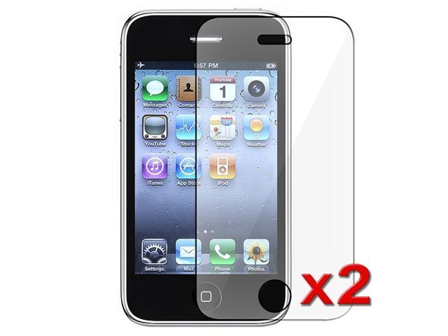 Insten 2 LCD Guard Screen Protector Film Accessory For AT&T Apple iPhone 3GS 16GB 32GB