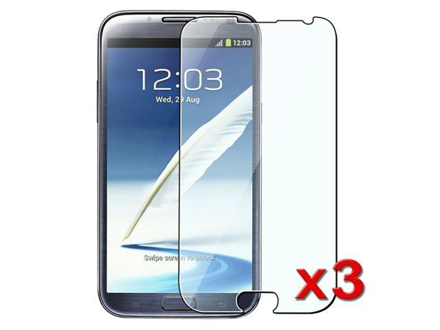 Insten Reusable Screen Protector Compatible with Samsung Galaxy Note 2 N7100, 3-Pack