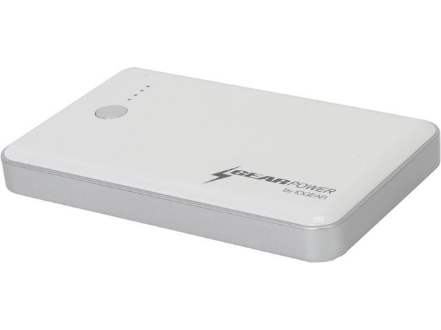IOGEAR White 7000 mAh Capacity Mobile Power Station GMP7K