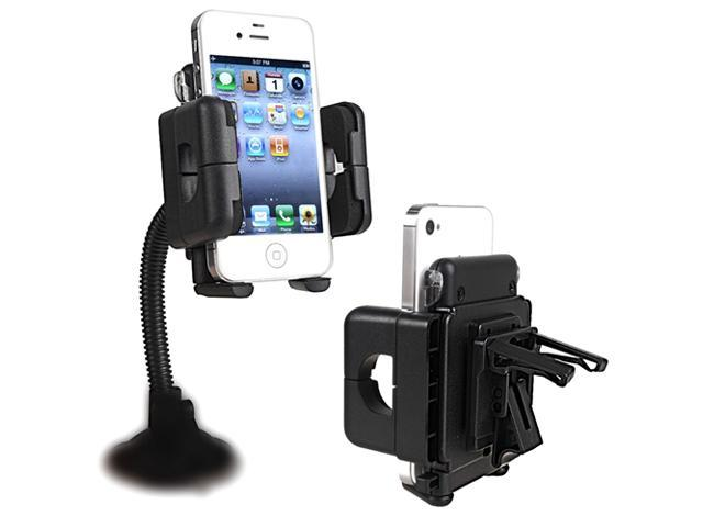 Insten Black Swivel Windshield Phone Holder compatible with the New Apple® iPhone® 5