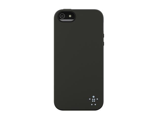 BELKIN Grip Candy Blacktop/Ice Solid Case for iPhone 5 / 5S F8W152ttC00