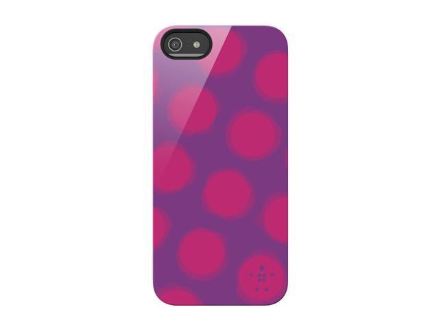 BELKIN Shield Spot Purple Lightning Case for iPhone 5 / 5S F8W173ttC03