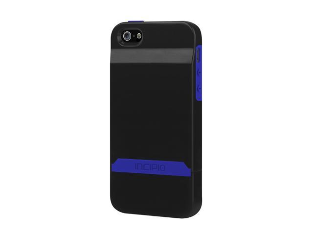 Incipio Stashback Obsidian Black / Ultraviolet Blue Case For iPhone 5 / 5S IPH-846