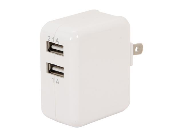 PNY P-P-AC-UF-W01-EF White 3.1 Amp Dual USB  Wall Charger