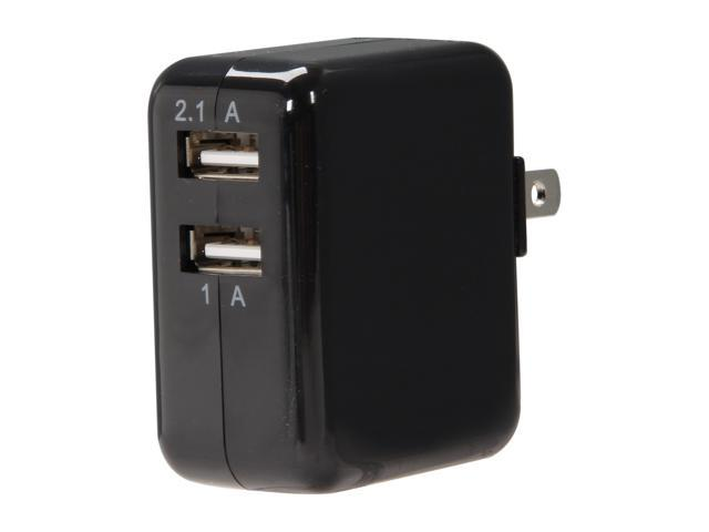PNY P-P-AC-UF-K01-EF Black 3.1 Amp Dual USB  Wall Charger