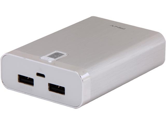 PNY PowerPack 7600 mAh Universal Rechargeable Battery Bank P-B-7800-12-S01-RB