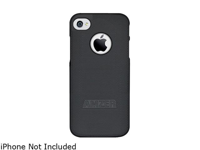 AMZER Black Hard Shell Snap on Slim Fit Case For iPhone 5 / 5S AMZ94825