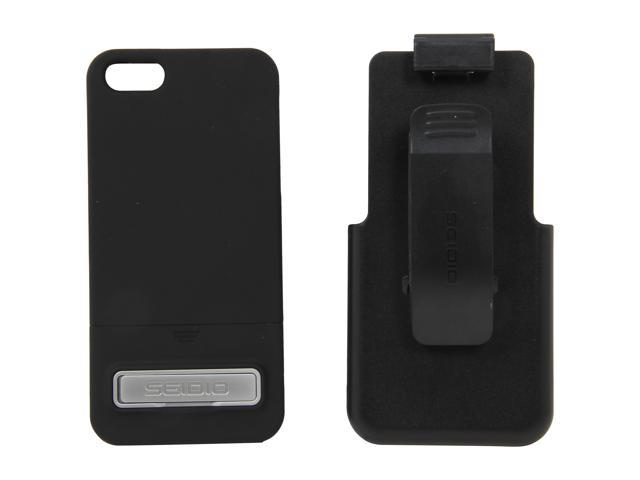 Seidio SURFACE Combo (w/Kickstand) Black Case For iPhone 5 / 5S BD2-HR3IPH5K-BK