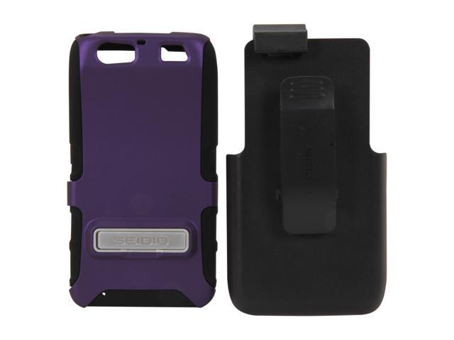 Seidio DILEX Combo with Metal Kickstand Amethyst Holster For Motorola Atrix HD BD2-HK3MTAT3K-PR