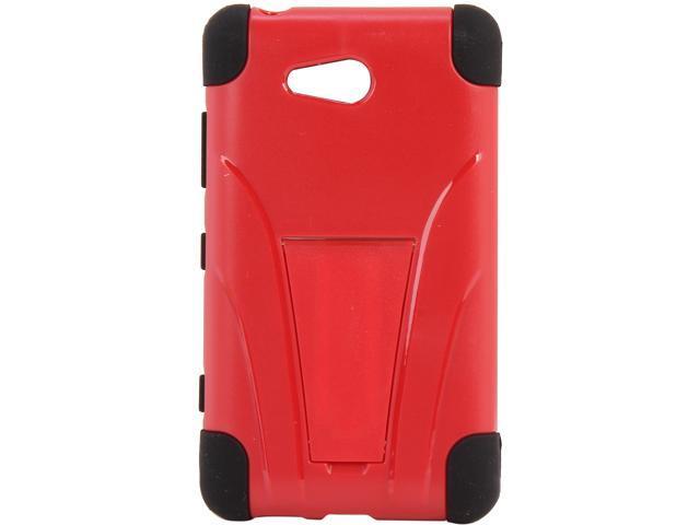 AMZER Black / Red Double Layer Hybrid Case with Kickstand For Nokia Lumia 820 AMZ95421