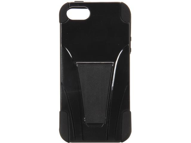 AMZER Black / Black Double Layer Hybrid Case with Kickstand For iPhone 5 / 5S AMZ95417