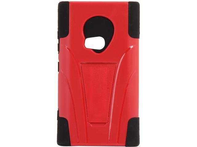 AMZER Black / Red Double Layer Hybrid Case with Kickstand For Nokia Lumia 920 AMZ95413