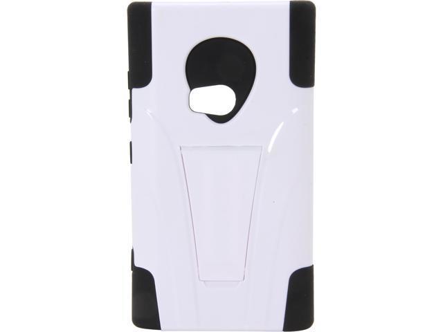 AMZER Black / White Double Layer Hybrid Case with Kickstand For Nokia Lumia 920 AMZ95414