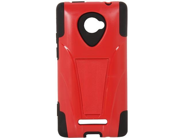 AMZER Black / Red Double Layer Hybrid Case with Kickstand For HTC Windows Phone 8X AMZ95410