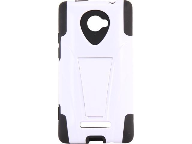 AMZER Black / White Double Layer Hybrid Case with Kickstand For HTC Windows Phone 8X AMZ95411