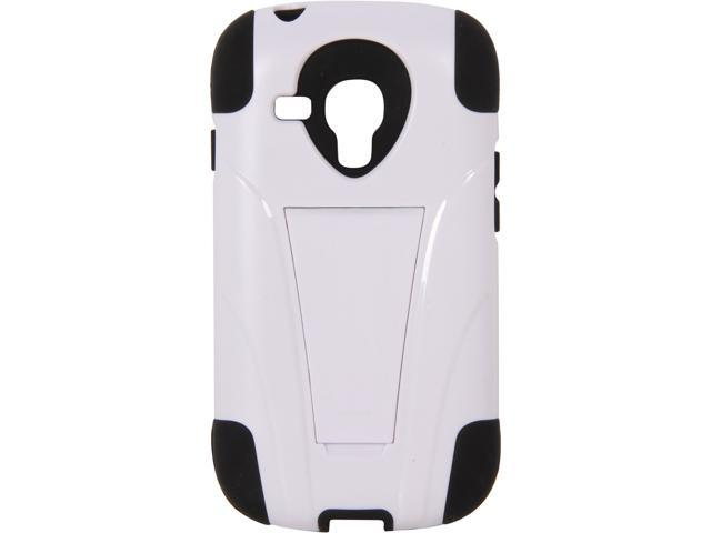 AMZER Black / White Double Layer Hybrid Case with Kickstand For Samsung GALAXY S III mini AMZ95406