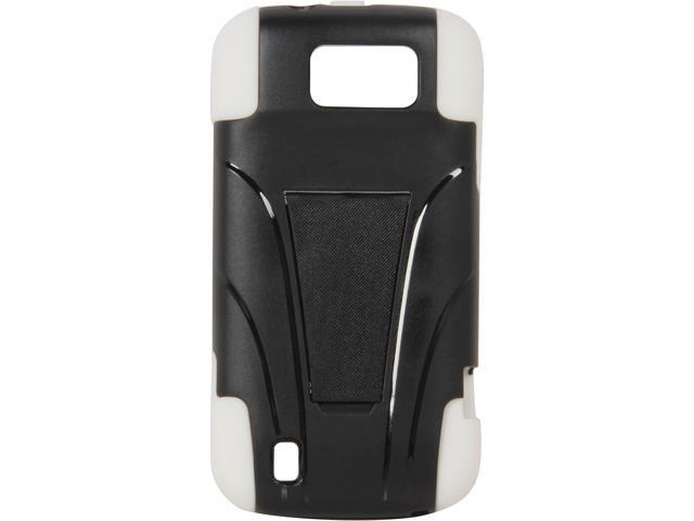 AMZER Black / White Double Layer Hybrid Case with Kickstand For ZTE Flash N9500 AMZ95396