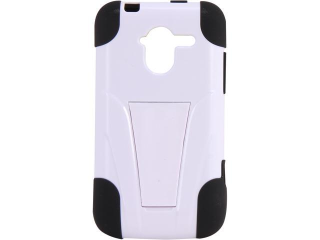 AMZER Black / White Double Layer Hybrid Case with Kickstand For ZTE Avid 4G N9120 AMZ95394