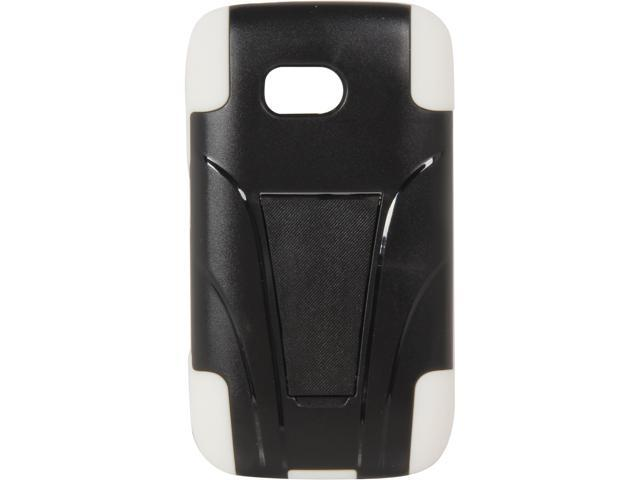 AMZER White / Black Double Layer Hybrid Case with Kickstand For Nokia Lumia 822 AMZ95391