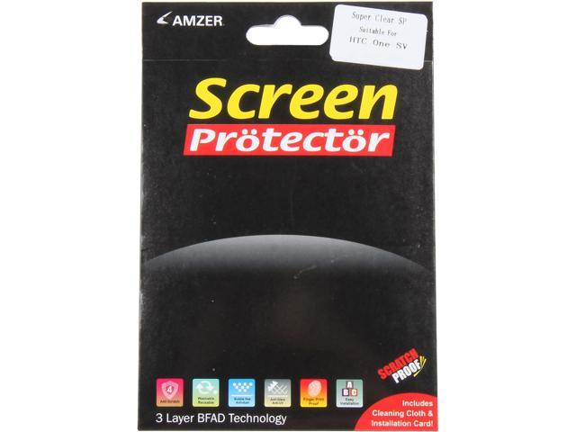 AMZER Super Clear Screen Protector with Cleaning Cloth For HTC One SV AMZ95381