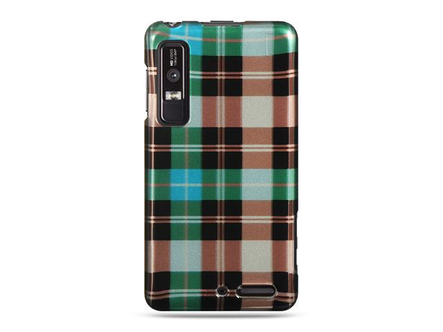 Luxmo Blue Blue Checker Design Case & Covers Motorola Droid 3